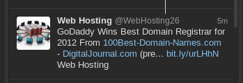 godaddy tweet for registrar of the year