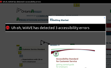 Ontario Government Accesability page errors at 2012-02-01