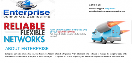 Image of Enterprise Corporate WebHosting site