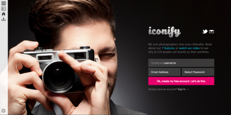 Iconify is a responsive portfolio for Creatives that is also downloadable as an app.