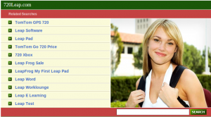 Generic Domain parking page with pretty girl wearing a backpack
