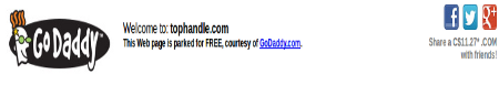 Screenshot of the TopHandle domain is a GoDaddyu Landing Page