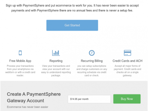StartLogic control panel shows the payment gateway is free after you pay $14.95 per month