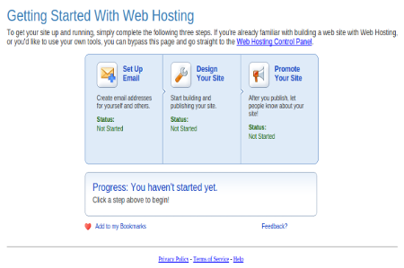 screenshot of Aabaco 'getting started' window