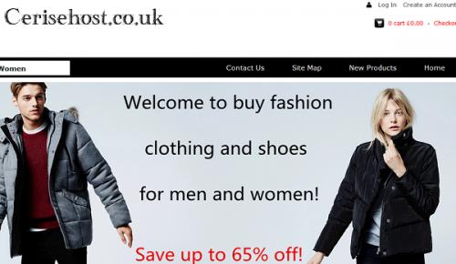 Screenshot of the Cerisehost homepage