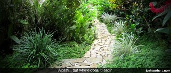 A picture of a path but where it leads is unknown