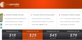 One Provider VPS offers