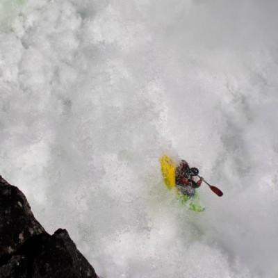 Peter Thompson Kayak.. dropping over falls