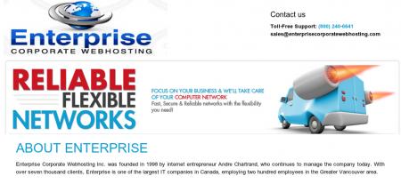 Image of Enterprise Corporate WebHosting site