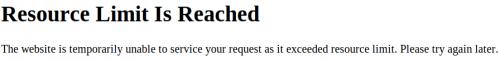 GlenCanning.com. Image showing site offline