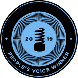 picture of the 2019 people voice award website badge